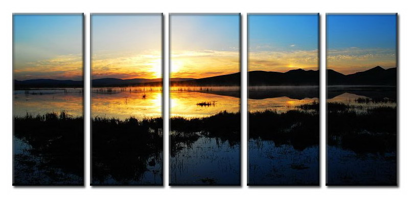Modern Oil Paintings on canvas sunglow painting -set08005