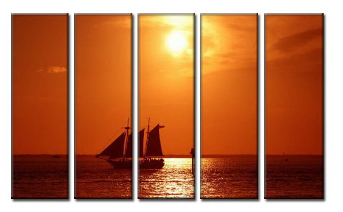 Modern Oil Paintings on canvas sunglow painting -set08007