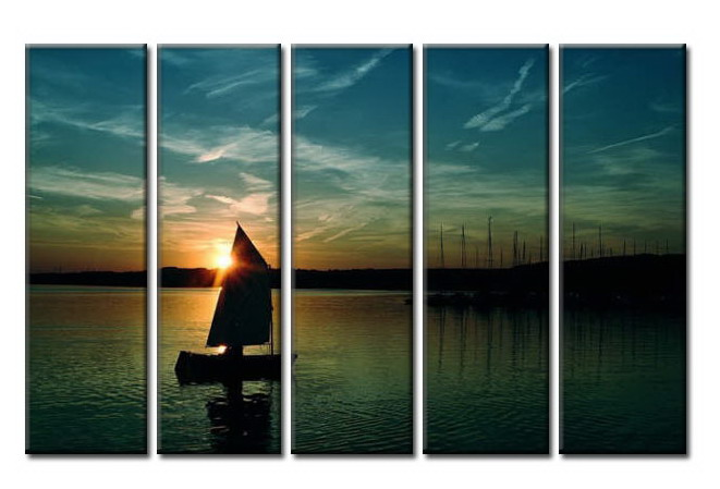 Modern Oil Paintings on canvas seascape painting -set08011