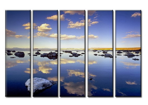 Modern Oil Paintings on canvas seascape painting -set08024