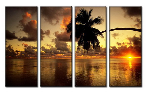 Modern Oil Paintings on canvas seascape painting -set08027