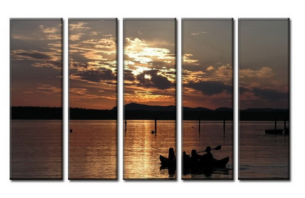 Modern Oil Paintings on canvas seascape painting -set08028