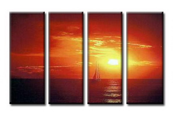 Modern Oil Paintings on canvas seascape painting -set08038