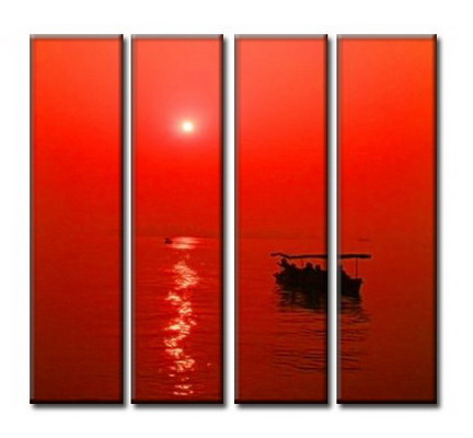 Modern Oil Paintings on canvas seascape painting -set08040