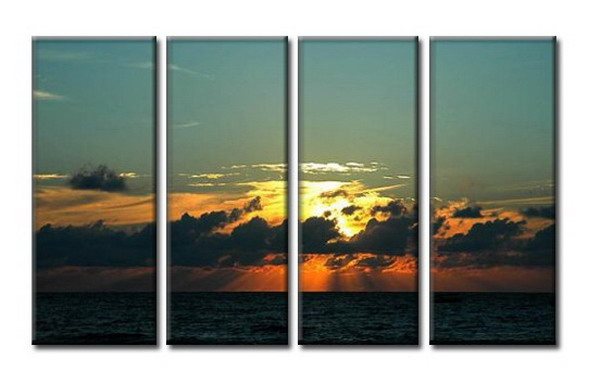 Modern Oil Paintings on canvas seascape painting -set08044