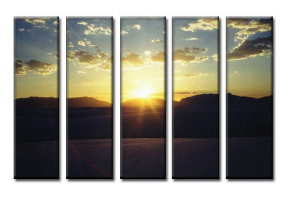 Modern Oil Paintings on canvas setting sun painting -set08050