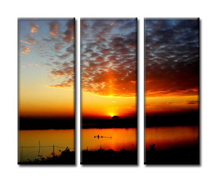 Modern Oil Paintings on canvas sunglow painting -set08052