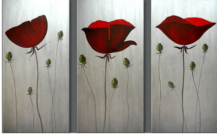 Modern Oil Paintings on canvas flower painting -set08075