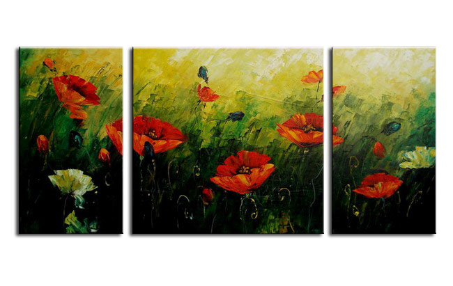 Modern Oil Paintings on canvas flower painting -set08076