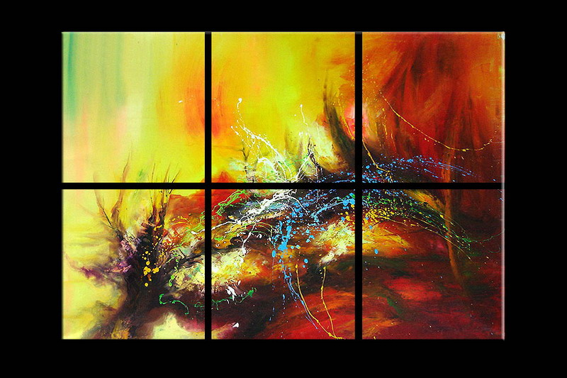 Modern Oil Paintings on canvas abstract painting -set08094