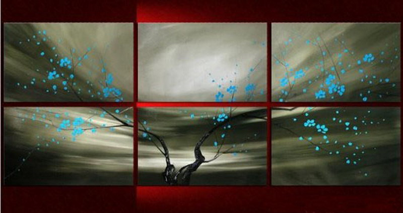 Modern Oil Paintings on canvas flower painting -set08096