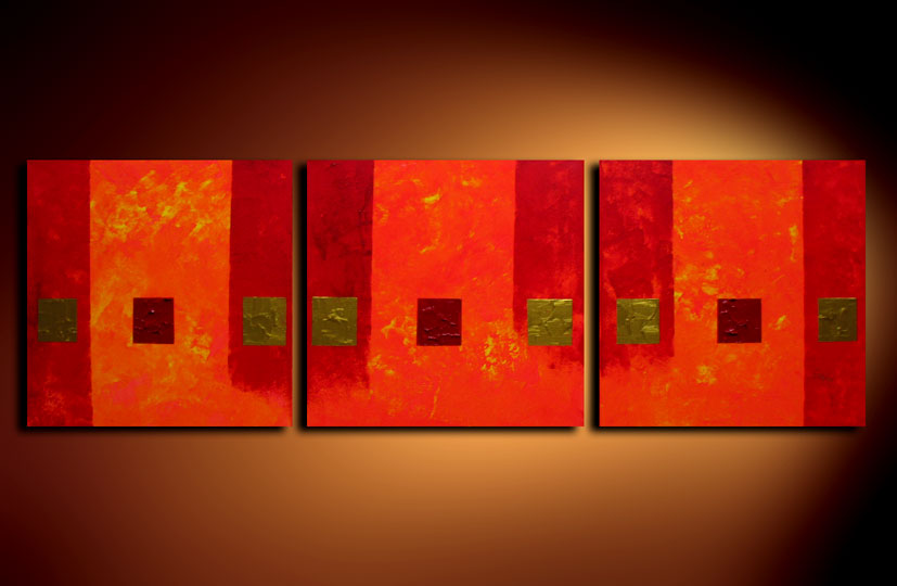 Modern Oil Paintings on canvas flower painting -set08104