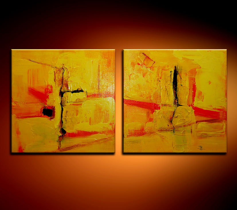 Modern Oil Paintings on canvas abstract painting -set08106