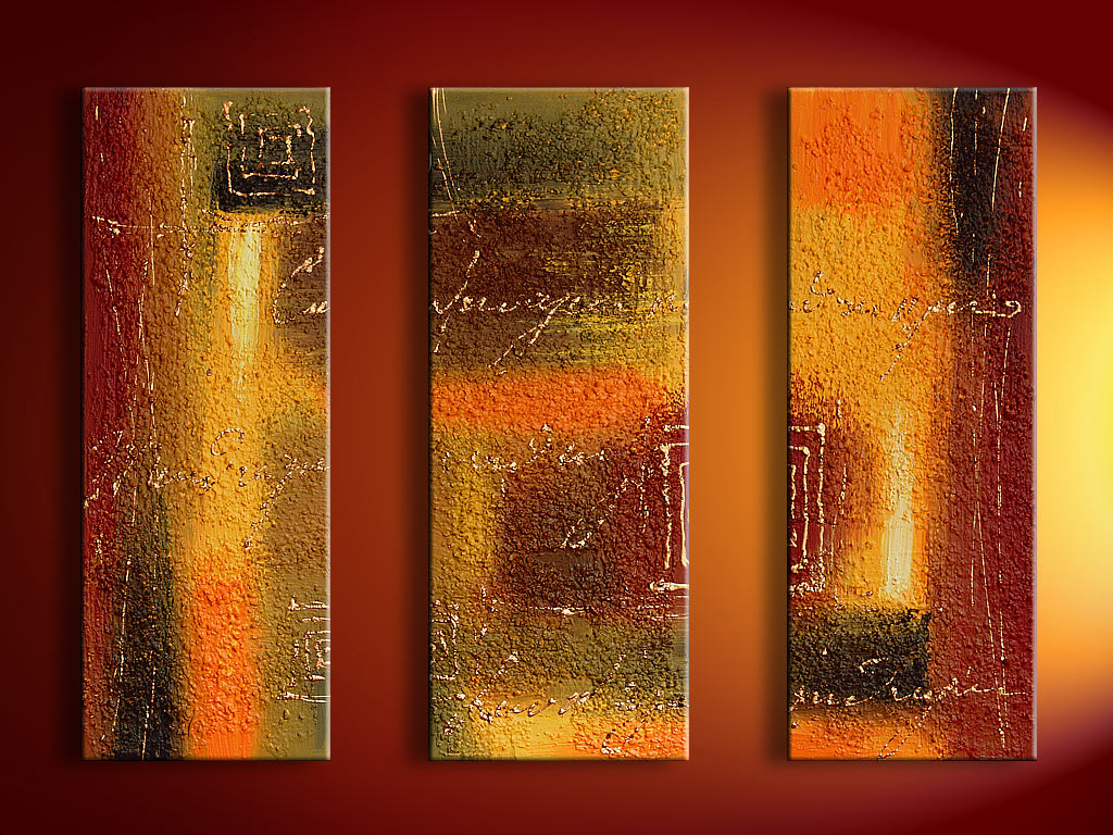Modern Oil Paintings on canvas abstract painting -set08124