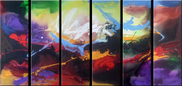 Modern Oil Paintings on canvas abstract painting -set08131