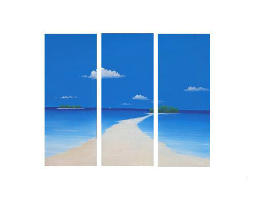 Modern Oil Paintings on canvas seascape painting -set08145