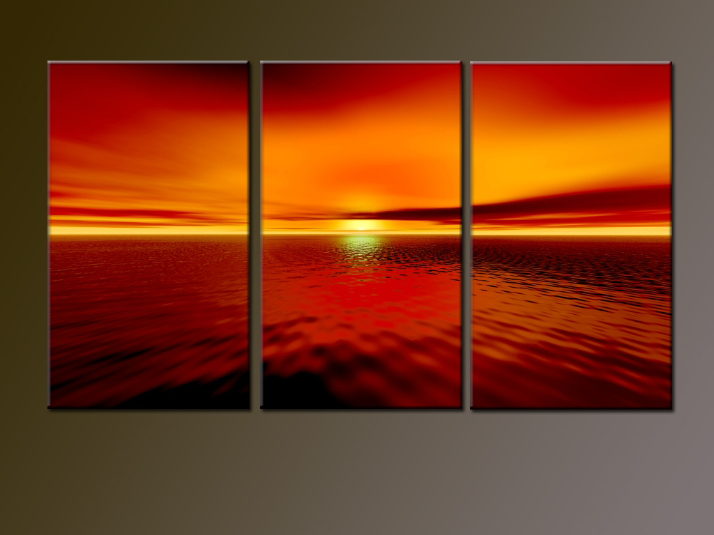 Modern Oil Paintings on canvas seascape painting -set08161