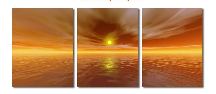 Modern Oil Paintings on canvas seascape painting -set08162