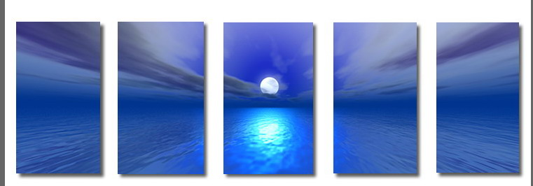 Modern Oil Paintings on canvas seascape painting -set08163