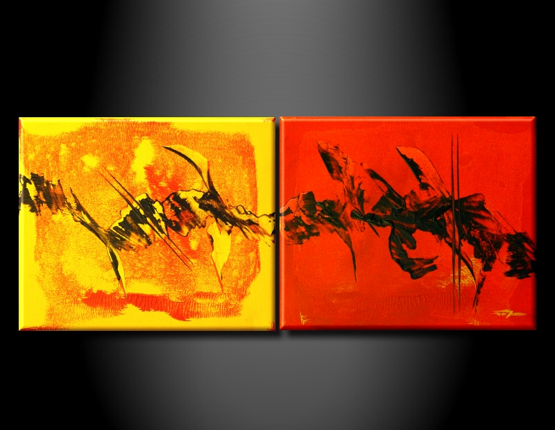 Modern Oil Paintings on canvas sunglow painting -set09004
