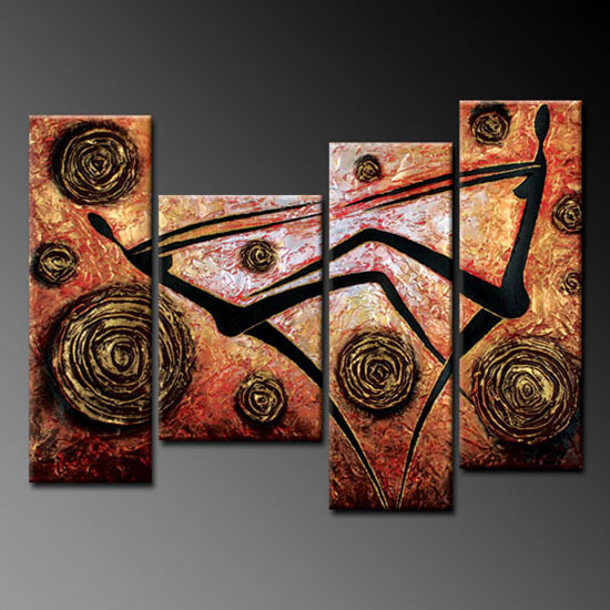 Modern Oil Paintings on canvas abstract painting -set09006
