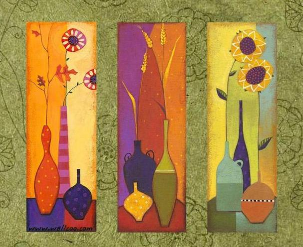 Modern Oil Paintings on canvas flower painting -set09023