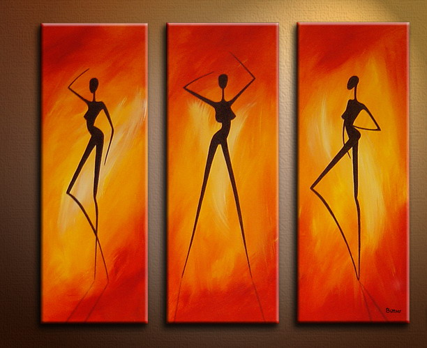 Modern Oil Paintings On Canvas Abstract Painting Set09063