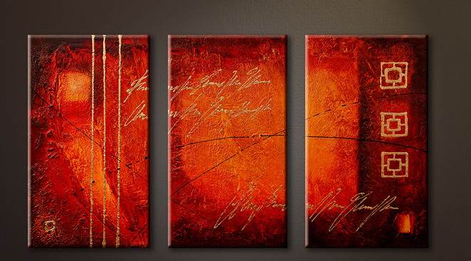 Modern Oil Paintings on canvas abstract painting -set09094