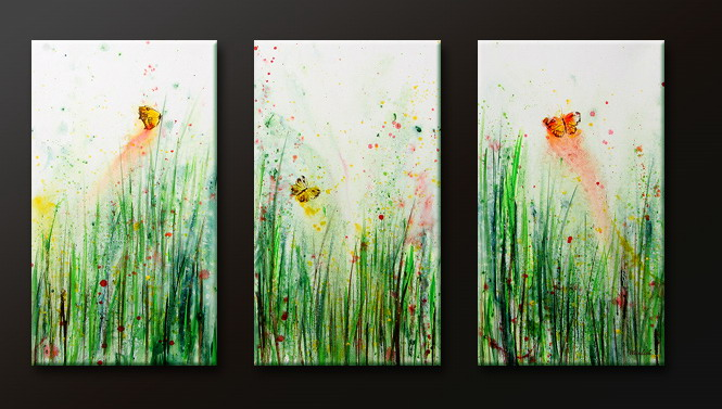 Modern Oil Paintings on canvas flower painting -set09118