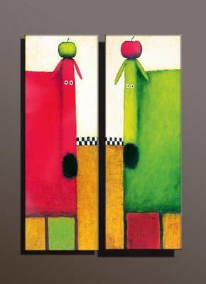 Modern Oil Paintings on canvas abstract painting -set10003