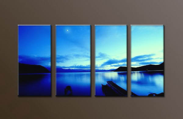 Modern Oil Paintings on canvas seascape painting -set10036