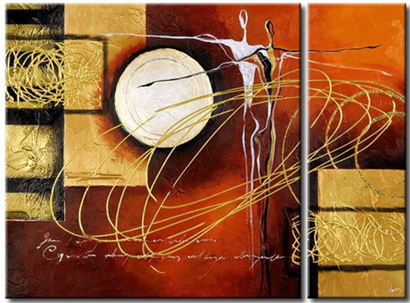 Modern Oil Paintings on canvas abstract painting -set12003