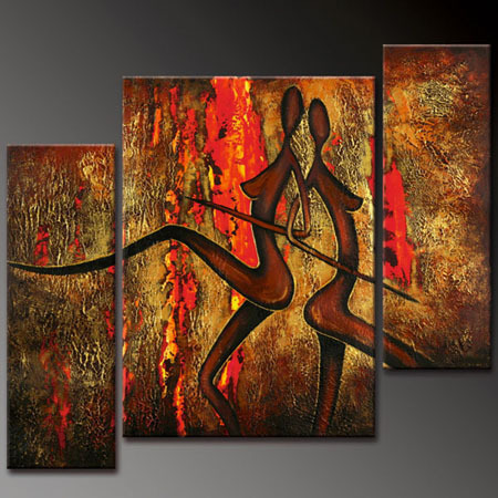 Modern Oil Paintings on canvas abstract painting -set12006