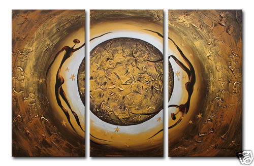 Modern Oil Paintings on canvas abstract painting -set12014