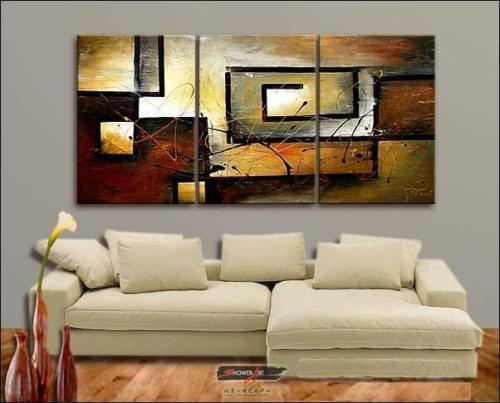 Modern Oil Paintings on canvas abstract painting -set12015