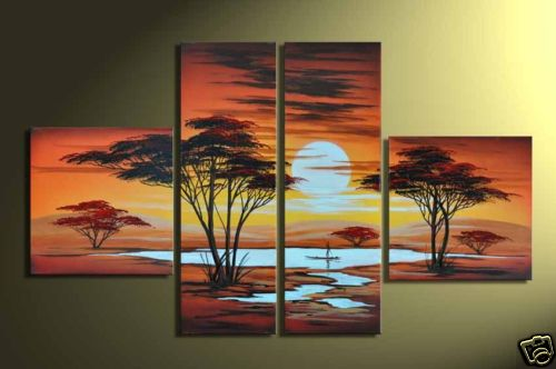 Modern Oil Paintings on canvas abstract painting -set12029