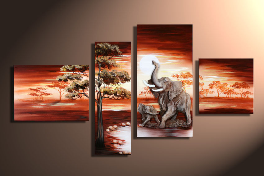 Modern Oil Paintings on canvas abstract painting -set12030