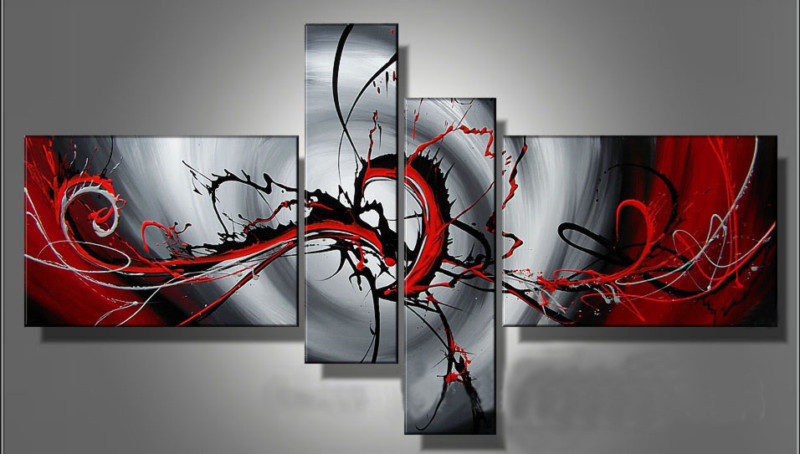Modern Oil Paintings on canvas abstract painting -set12034