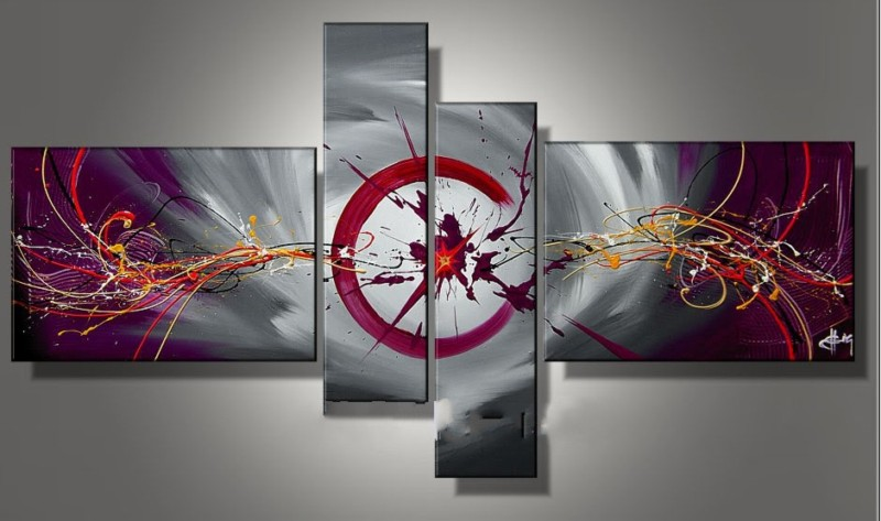 Modern Oil Paintings on canvas abstract painting -set12038