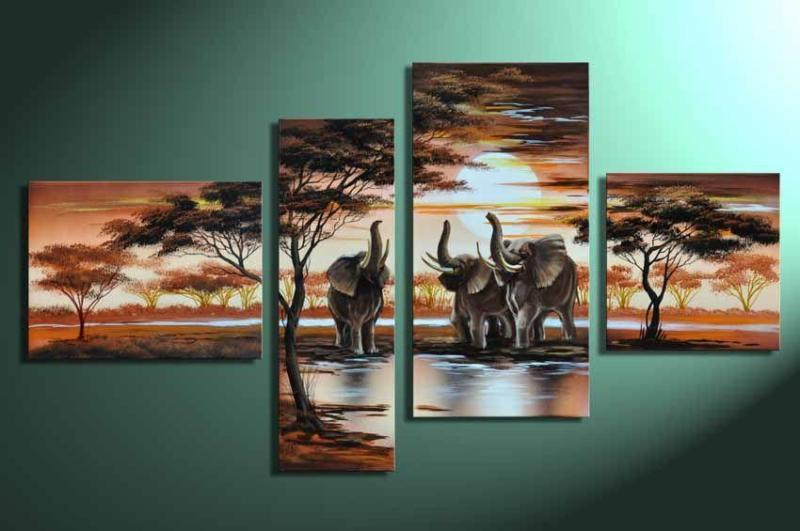 Modern Oil Paintings on canvas abstract painting -set12041