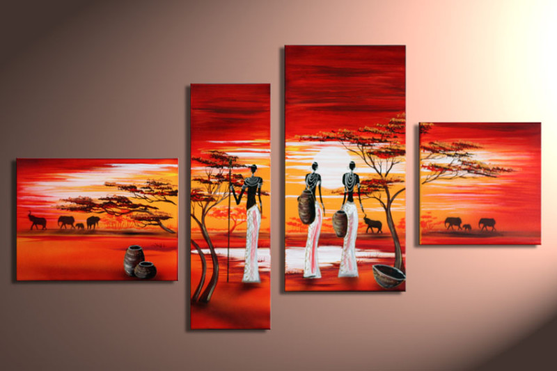 Modern Oil Paintings on canvas abstract painting -set12049