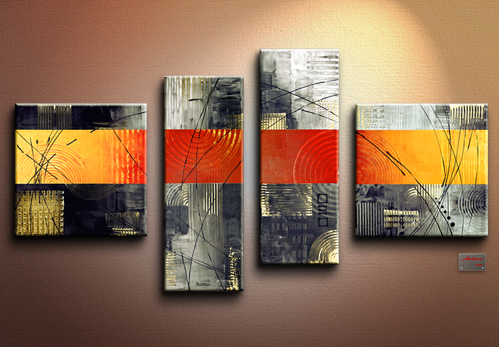 Modern Oil Paintings on canvas abstract painting -set12052