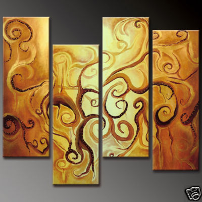 Modern Oil Paintings on canvas abstract painting -set12057