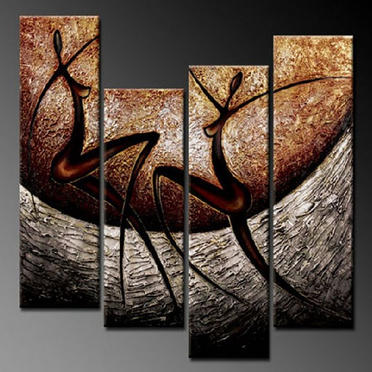 Modern Oil Paintings on canvas abstract painting -set12058
