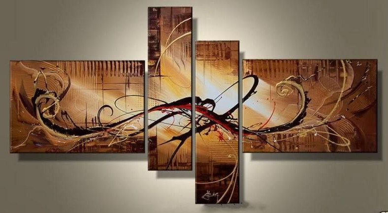 Modern Oil Paintings on canvas abstract painting -set12066