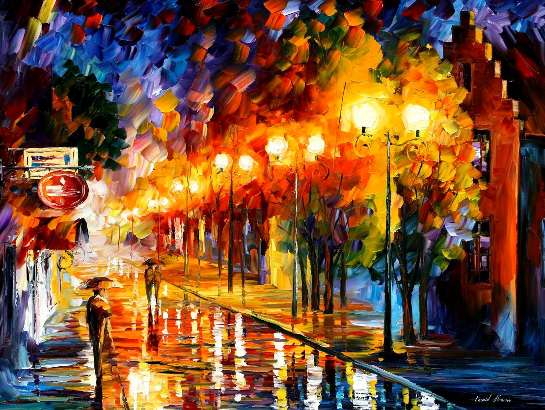 Modern impressionism palette knife oil painting City012 - Click Image to Close