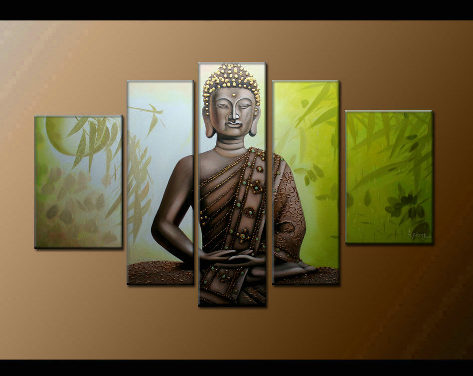 Contemporary zen art Buddha oil painting Buddha008
