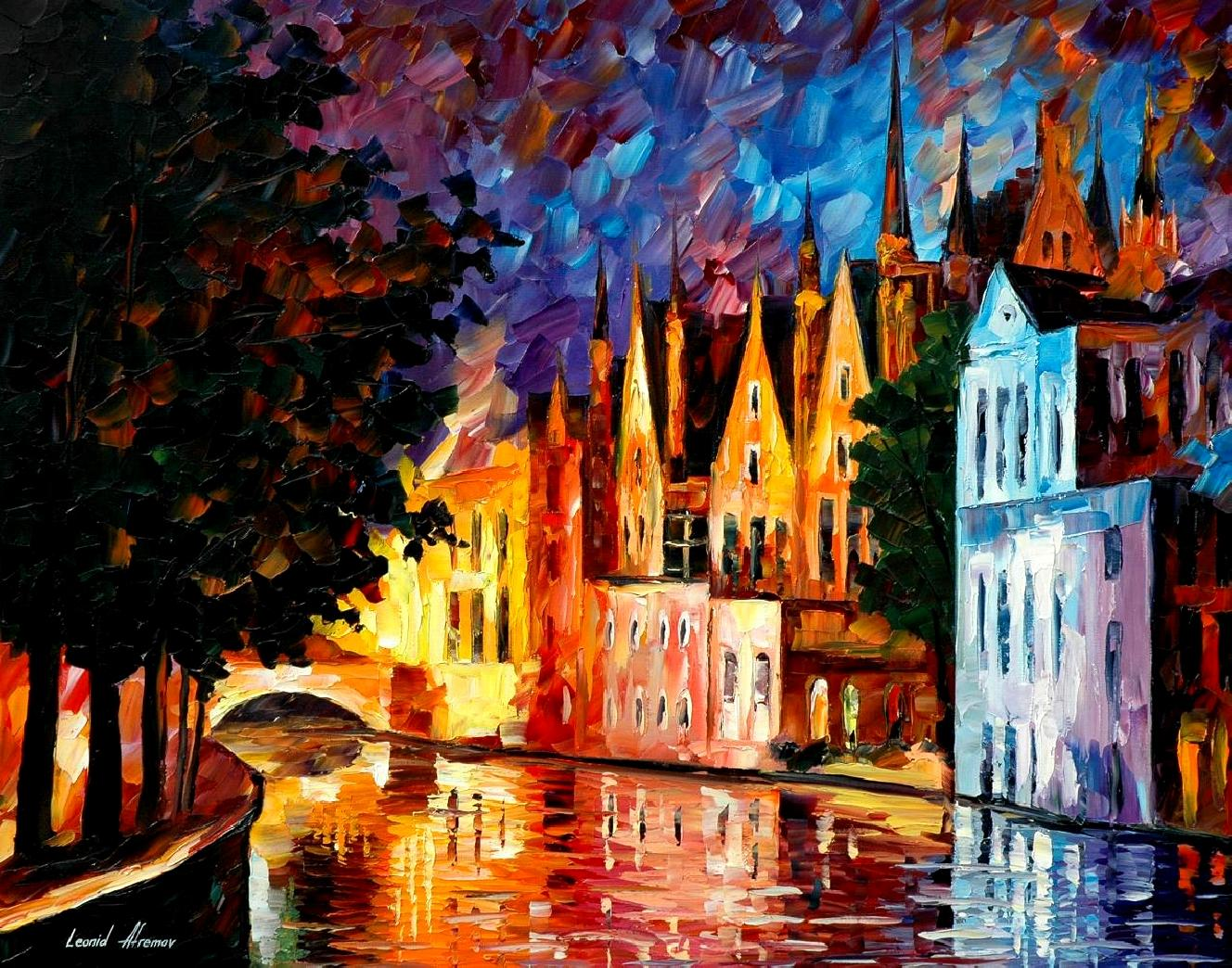 Modern impressionism palette knife oil painting kp15001