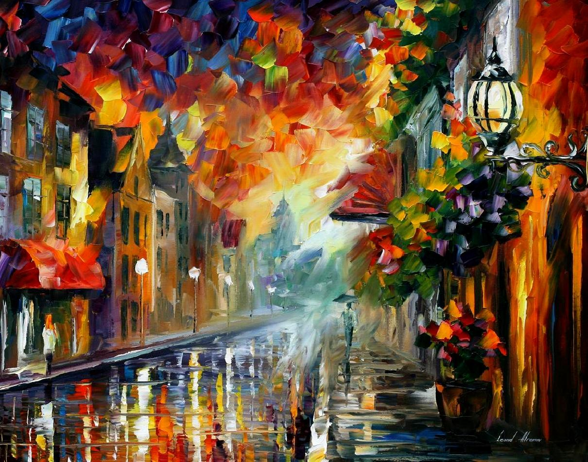 Modern impressionism palette knife oil painting kp15016