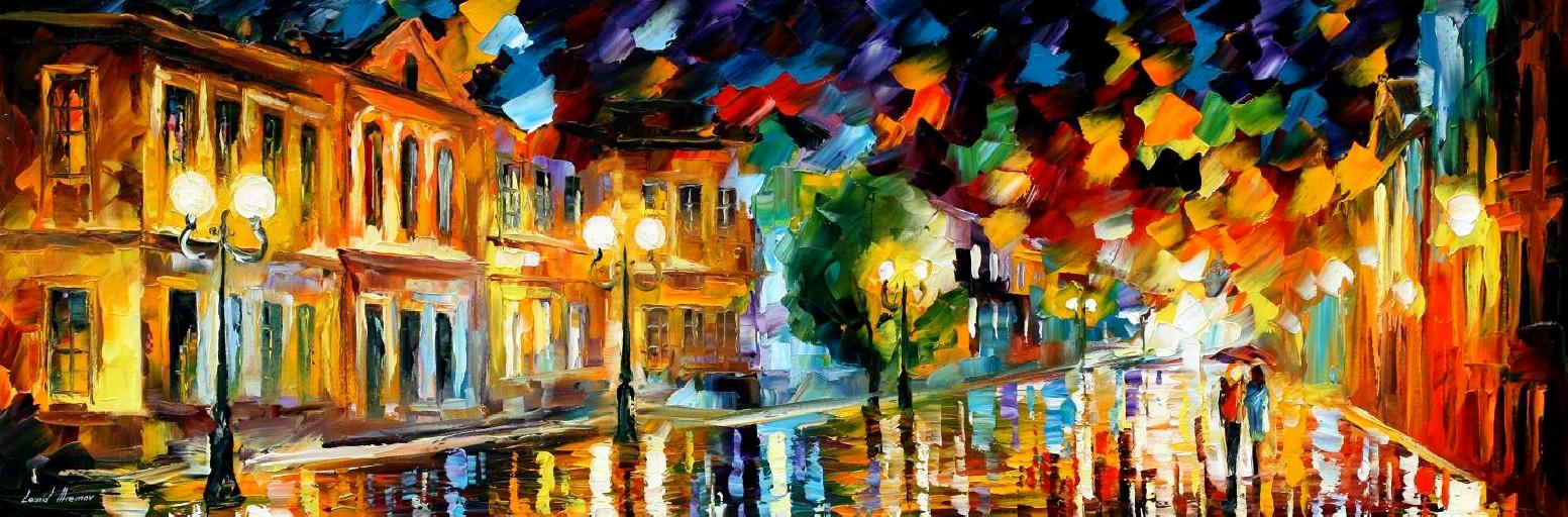 Modern impressionism palette knife oil painting kp15032